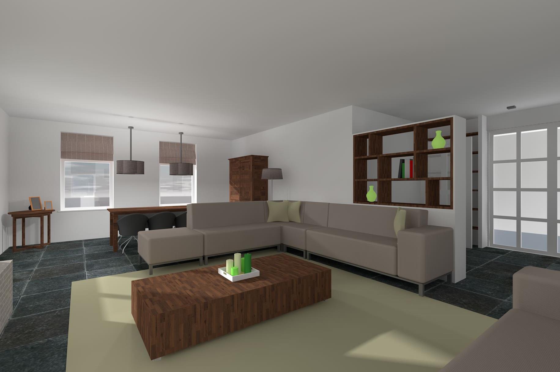 Woonkamer deco paarse for Deco van woonkamer design