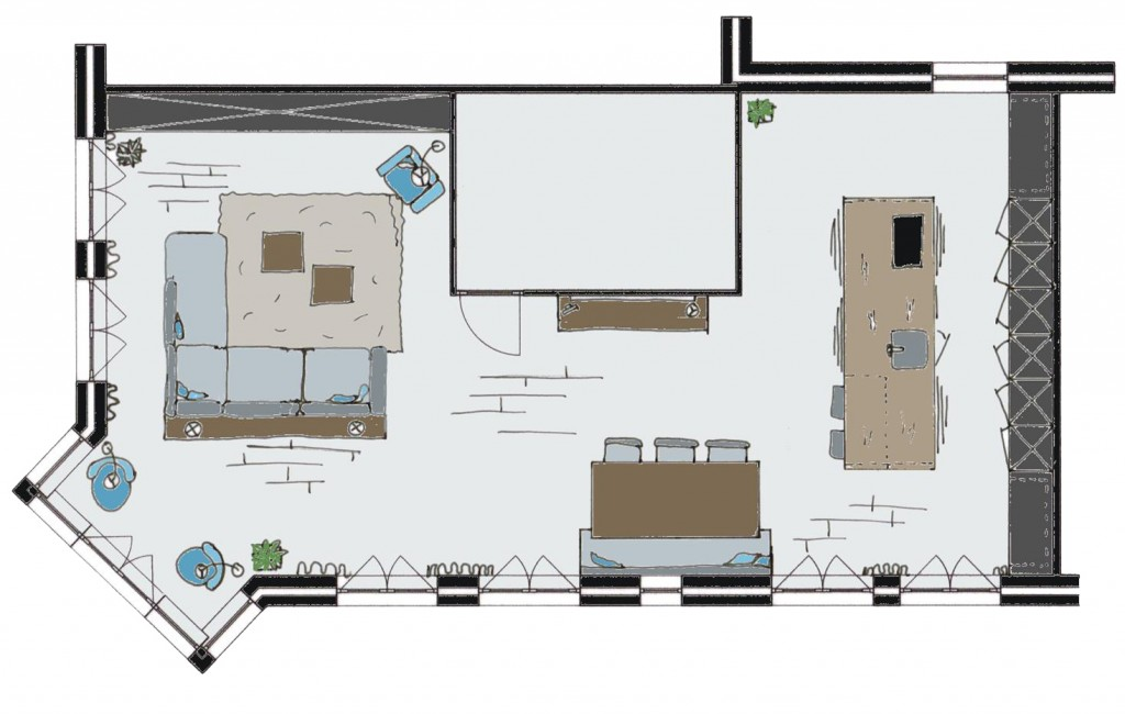 Leiden Definitief ontwerp woonkamer