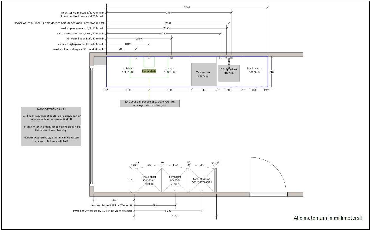 Technische Tekeningen Keukens Livingdesign
